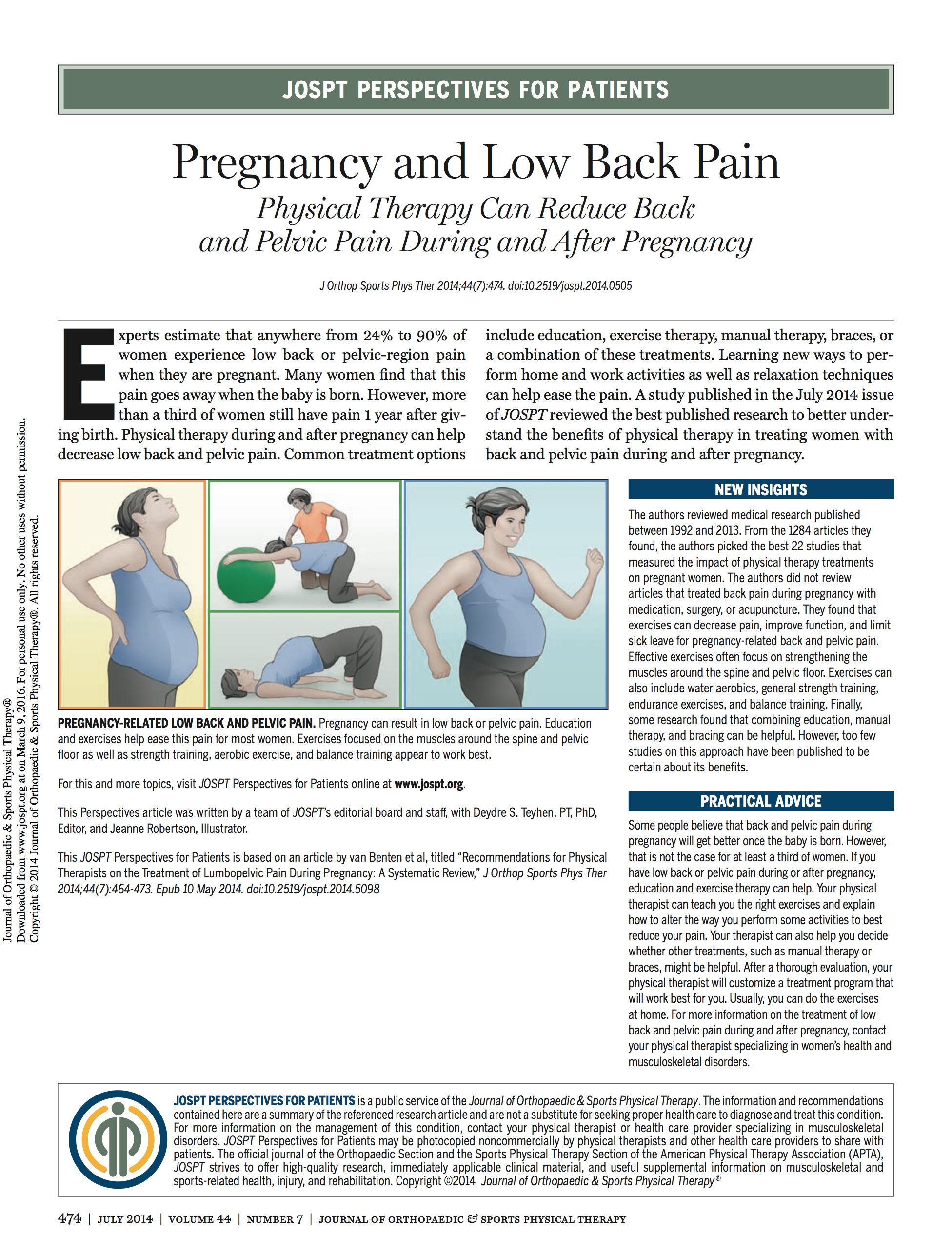 Pregnancy & Low Back Pain
